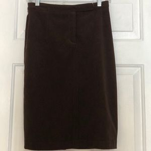 SHELLI SEGAL LAUNDRY SKIRT 2 Brown Pencil Skirt